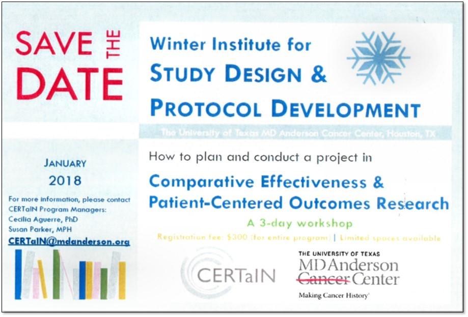 Save the Date Winter Institute